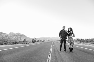 las vegas engagement portrait shoot