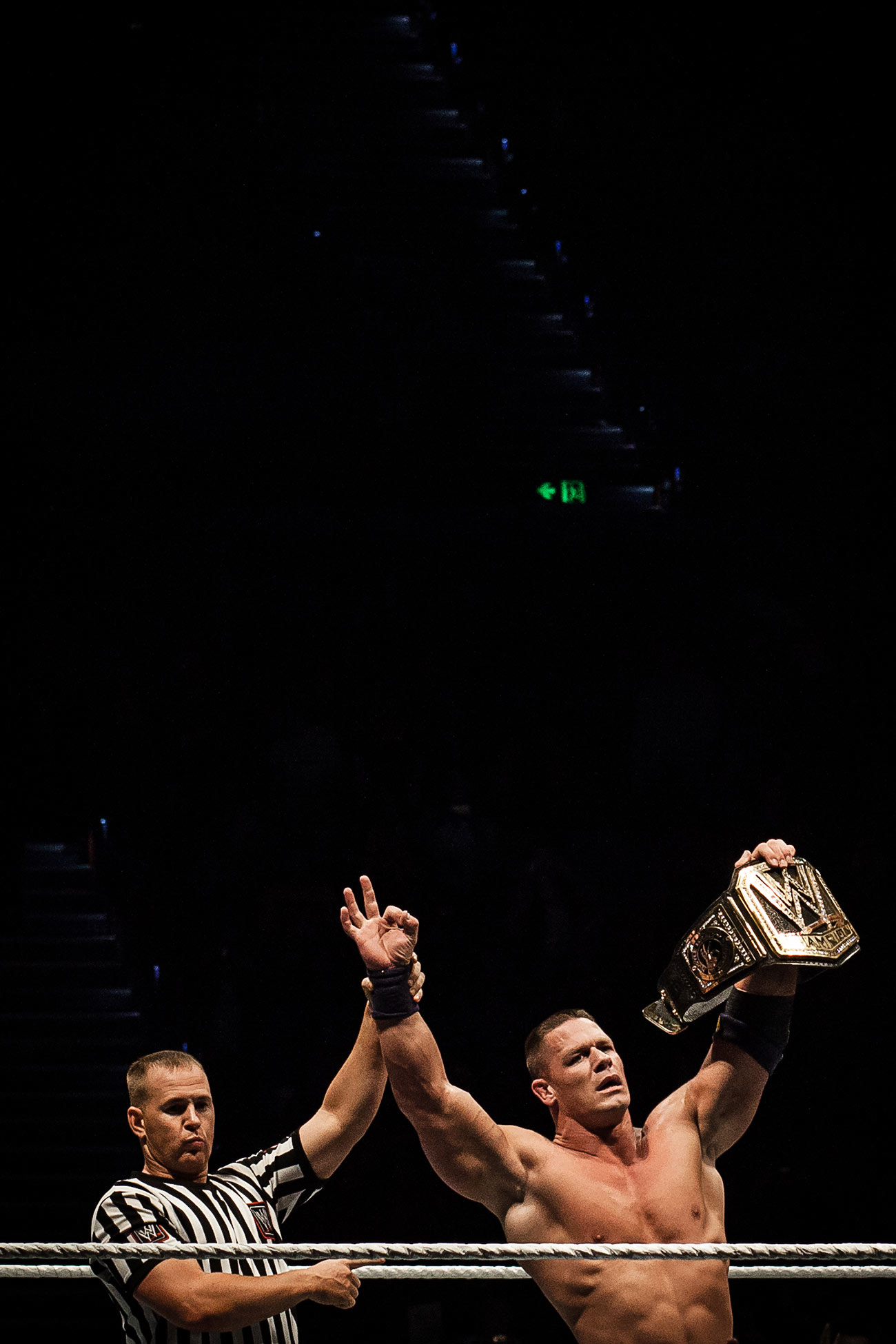 Professional wrestler and WWE Champion John Cena