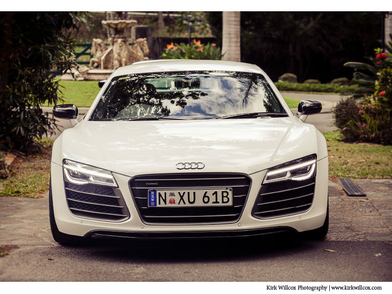 Audi sports car at wedding