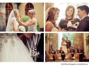 brid with bridesmaids at Coolibah Downs wedding