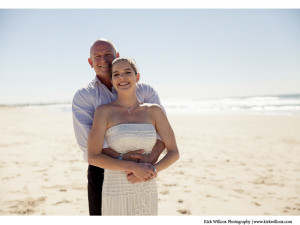 Gold Coast beach wedding portrait