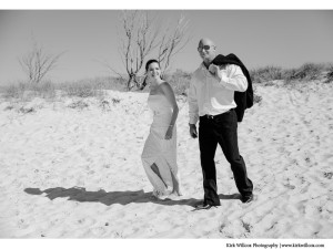 Gold Coast bride and groom wedding portrait