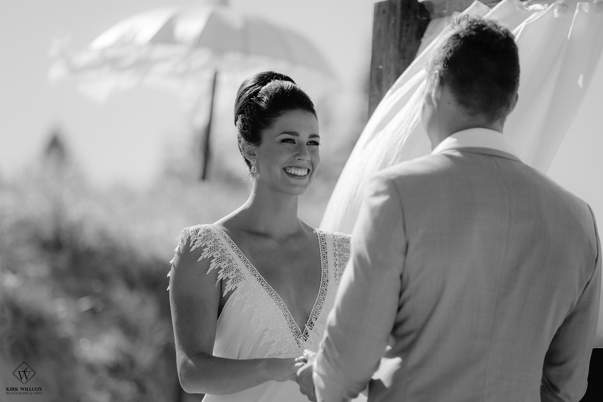 wedding ceremony with bride