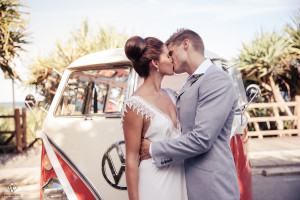 bride & groom VW Kombi van photography