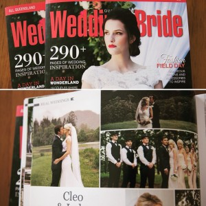 Wedding photography featured in the QLD Wedding and Bride magazine