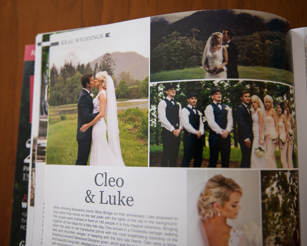 Gold Coast wedding photography magazine editorial
