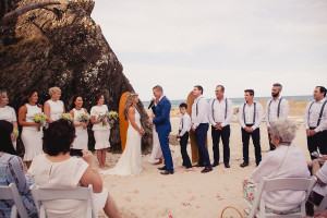 gold coast beach wedding ceremony