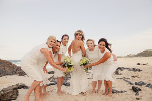 bridesmaids wedding day