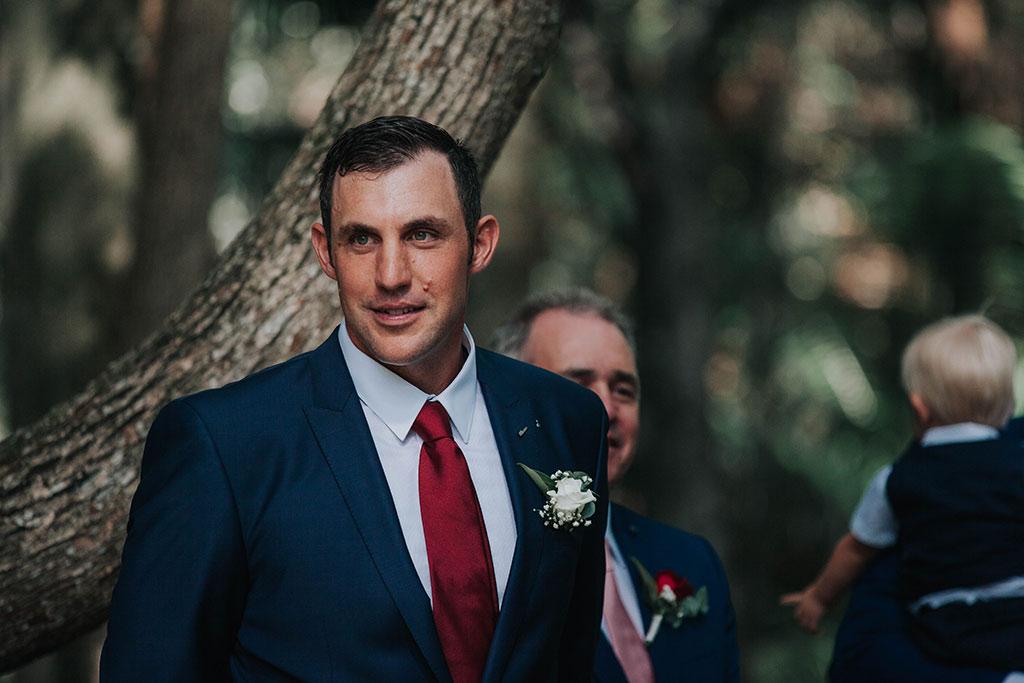 groom wedding ceremony portrait