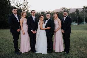 bridal party on wedding day