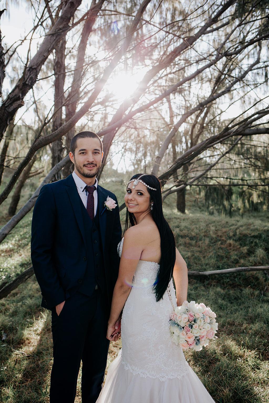 bride and groom Gold Coast wedding