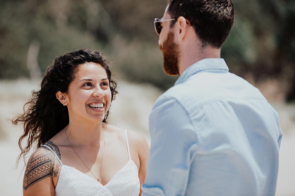 bride wedding ceremony byron bay