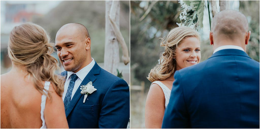 bride and groom byron bay wedding